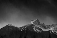 Peter Lougheed Provincial Park (dhugal watson) Tags: alberta canada rockies peter lougheed fuji 1655 landscape bw xt1 mountain snow