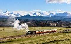 Highland Splendour (Articdriver) Tags: steam locomotive railway trains heritage 46512 broomhill strathspeyrailway highlands scotland ivatt mountains cairngorms snow scenic