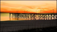 SUNSET AT THE PIER (photogtom43) Tags: nikoncoolpix4800 pier sunset outdoors nature gulfofmexico panamacitybeach florida beach water sand