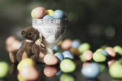 chocolate overload (s@ssyl@ssy) Tags: easter eggs chocolate teddy tiny eggcup vintage