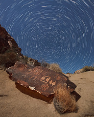 Star Trails Over Petroglyphs (Jeffrey Sullivan) Tags: petroglyphs star trails night photography astrophotography astronomy nevada southwest usa landscape nature canon 5dmarkii dslr photos copyright april 2012 jeff sullivan all rights reserved