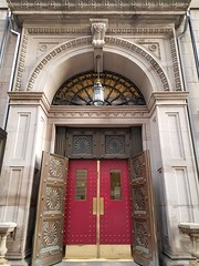 4-20-2017: The regal doors of 10 1/2 Beacon St - the Boston Athenaeum. Boston, MA