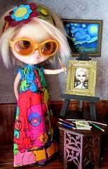 Blythe Art (SJB Dolls) Tags: blythe doll art keane starrynight vangogh mabgraves
