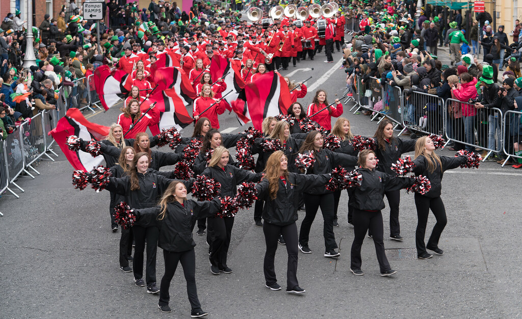 Illinois State University's Big Red Marching Machine [St. Patricks Parade 2017]-125844