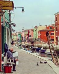 Burano (juliatoletti) Tags: instagramapp square squareformat iphoneography travel burano venice venise italia voyage couleurs