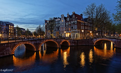 Amsterdam. (alamsterdam) Tags: amsterdam keizersgracht evening longexposure reflections westertoren architecture