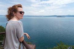 M-upon-Lake Bolsena (Scriblerus) Tags: lakebolsena umbria viterbo water redhead capodimonte