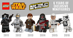 LEGO Star Wars May the 4th exclusive minifigures (hello_bricks) Tags: lego starwars maythe4th exclusive minifigures 2011 trooper shadowarftrooper 2856197 2012 tc14 5000063 2013 hoth hansolo 5001621 2014 darthrevan 5002123 2015 admiral yularen 5002947 2016 firstorder stormtrooper 30602 minifigure minifigs minifig polybag