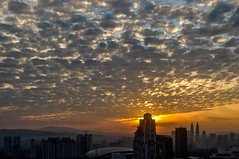 Morning Sun (The Dutch Crow) Tags: kl malaysia morning sunrise landscape clouds red yellow orange