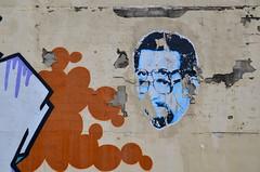 nice one, bruv (Brinkervelt.) Tags: peeling texture paint brown orange white blue colorful color wall graffiti postup art mural face brick