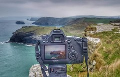 View from Tintagel, Cornwall (stuarttuckfield) Tags: cornwall uk tintagel castle climbing canon canon6d canonlserieslens manfrottotripod landscapephotography sea cliffs colours water landscape britishcoastline coast