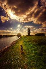 walk with dog (radonracer) Tags: duisburg walsum painted