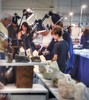 """at the rock and mineral show (""""One who sits by the fire"""") Tags: rockshow rocks geodes"""