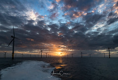 Sunset sailing (A Crowe Photography) Tags: sunset stormscloudssunsetsandsunrises wales welshflickrcymru welshphotography welshlandscape sea seascape canon canon6d windfarm wind windpower windturbine irishsea