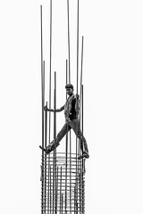 Sky Walker (Arnob Antor) Tags: bangladesh monochrome blackandwhite balck white dhaka labourer portrait under construction blackwhiteaward black passion award