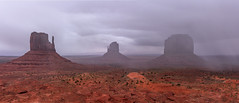 Gloomy Valley_Panorama1 (erock9603) Tags: panorama monumentvalley navajo nation scenic outdoor beauty storm clouds rain colors canon 60d tamron2875 landscape rock desert
