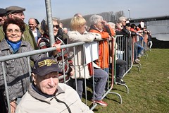 The crowd watches (U.S. Army Europe) Tags: nierstein germany worldwar ww2 75strong strong strongeurope amphibious nazivictims kornsand engineers 249th history historic rhine rhineriver usareur armyeurope europestrong