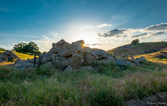 Happy Easter (dennisjohnston17) Tags: sunburst spring boulders hills green wildflowers deercreek california tularecounty terrabella sunset clouds country rural pastoral rocks pasture
