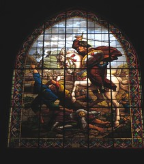 "Vitrail de Saint Jacques ""Matamoros"" (XIXe), église Saint Jacques, rue du Jeu de Paume, Perpignan, Roussillon, Occitanie, France. (byb64) Tags: perpignan perpinyà perpiñán 66 pyrénéesorientales roussillon languedocroussillon pirineusorientals llenguadocrosselló pirenèusorientals pirineosorientales pireneiorientali linguadocarossiglione rossiglione languedocrosellón rosselló rosellón perpignano france francia frankreich europe europa eu ue royaumedemajorque briques occitanie église church chiesa iglesia igreja igrexa kirche xiiie xive 13th 14th moyenage medioevo middleages edadmedia saintjacques matamoros xixe 19th vitrail vetrata stainedglass glassmalerei"