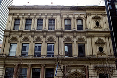 Architectural Detail on Toronto St (Bill Smith1) Tags: april2017 believeinfilm billsmithsphotography heyfsc lomographyfsquard400 nikkoro35f2lens nikkormatel toronto