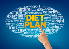 Diet Plan (HealthmaceTeam) Tags: dietplan diet dieting energy exercise fat fit food fruit health healthy life lifestyle living lose loss medical natural nutrition nutritious organic obese produce slim slimming snack success vegetables vitamins weight overweight calories nutrients cholesterol beauty carbohydrates carbs sport text words finger pointing arm fingerpointing hand bluebackground