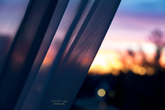 morning light (mariola aga ~ OFF vacation) Tags: sunrise sky twilight window curtain bokeh firstlight morning blur pink blue gold closeup infinitexposure