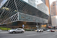 Seattle Public Library on 4th Avenue (Adventurer Dustin Holmes) Tags: seattle seattlewa seattlewashington building architecture