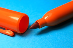 AD8A1710_p (thebiblioholic) Tags: orangeandblue macromondays closeup sharpie orange blue lensbaby velvet56 kenko kenko20 365
