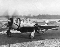 P-47D Thunderbolt of the 353rd Fighter Squadron flown by Maj Glenn T Eagleston, Squadron Commanding Officer and top ace of 9th Air Force with 18.5 kills, Rosieres en Haye Airbase, France, February 1945