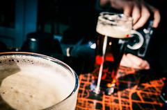 Le picon bière ça pardonne pas. (www.danbouteiller.com) Tags: france french français rouen normandie normandy ricoh ricohgr ricohgr2 ricohgrii gr gr2 grii bière beer picon alcool alcohol drink hand main orange mousse