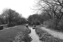 Illinois & Michigan Canal - Minooka - Illinois - 09 Apr 2017 - 010 (Andre's Street Photography) Tags: illinoismichigancanalminookaillinois09apr2017 minooka illinois imcanal illinoismichigancanal canal lock bridge landscape scape historicsite blackandwhite bw bwphotography artistic photography landscapephotography noiretblanc blancoynegro zwartwit chicagoland canon eos 5div ef40mmstm