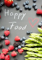 Was ist Happy Food (HappyFood.Love) Tags: happyfood healthyfood asparagus blueberries raspberry