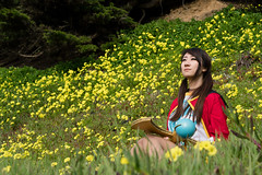 Thinking. (asiantango) Tags: california cloudy cosplaytype flower goldengatenationalrecreationarea item landsend maplestory milerockbeach neighborhood object out outdoor outdoors outside outsides plants sanfrancisco seacliff shellyshellynotshally weather