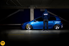 IMG_1496 (Fitment Photography) Tags: portrait vw r32 volkswagen mk5 airride bagged slammed fitment stance baller lowlife camber lightpainting 3sdm