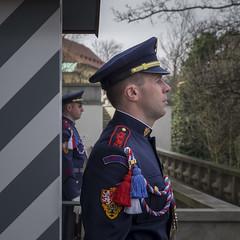 Prague Castle Guard (archie.logical) Tags: supershot prague europe military guard unifrom portrait personnel