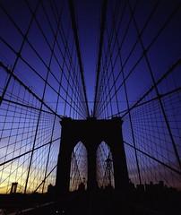 More bridge (swigadelica) Tags: swigadelica swig sunrise newyork brooklynbridge 1 pushed portra400 120mmfilm kodak 43mmf45 mamiya7ii