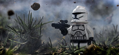 There is only Chaos. (Lego_LUTs) Tags: green yellow storm trooper star wars war lego outdoors clone troopers first order blasters afol minifigs minifigures bricks blocks canon toy toys force legos t3i republic people photoadd atst death rogue one dirt practical effects