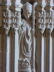 St Nicholas (Aidan McRae Thomson) Tags: worcester cathedral worcestershire medieval sculpture carving statue