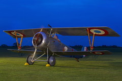 Nieuport 17 (Kev Gregory (General)) Tags: timeline events sunset night shoot stow maries great war aerodrome maldon essex world one wwi raf rfc royal flying corp air force sqn squadron biplane aircraft aeroplane historic kev gregory canon 7d nieuport 17 no n1977
