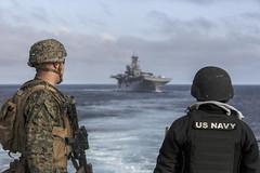 170408-M-HF454-017 (U.S. Pacific Fleet) Tags: marines marine sailor navy usssandiego lpd22 showofforce security 15thmarineexpeditionaryunit 15thmeu camppendleton california atsea pmint phibronmeuintegration pacificocean
