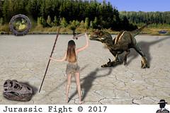 JURASSIC FIGHT.... (ADRIANO ART FOR PASSION) Tags: fotomontaggio photomontage giurassico combattimento fight velociraptor raptor stargate jurassic viaggio juorney jurassicfight universoparallelo era age