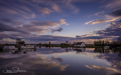 Peaceful Thurne (jammo s) Tags: thurne riverthurne river norfolkbroads reflection sky boats evening spring water lightroom canoneos6d canonef1740mmf4lusm
