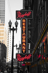 The Berghoff (George Baritakis) Tags: travel chicago architecture illinois signs neon landmark pop popculture city cityscape travelling restaurant