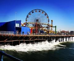 Pier Santa Mónica  #LA (antoniosanchezserrano) Tags: instagramapp square squareformat iphoneography uploaded:by=instagram lofi pier santamonica la ca usa ocean pacific pacificpark