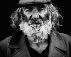 Jimmy (C.Preston Roberts) Tags: blackandwhite monochrome portrait beard bearded greybeard character age hair grey silverfox person man vintage classic