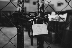 deep secret (obyda) Tags: heart lock blackwhite bnw blackandwhite black natural art fineart streetphotography