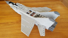 Mikoyan Gurevich MiG-31BM Foxhound WIP - 3 (Kenneth-V) Tags: aircraft airplane aviation airforce air mikoyan gurevich mig mig31 mig31bm foxhound russian military model moc lego 136 wip war cold modern age fighter interceptor planes plane scale