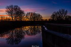 Reflejos del atardecer (raulmiguelmantilla) Tags: anochecer agua rio paisaje cielo puesta de sol árbol lago noche