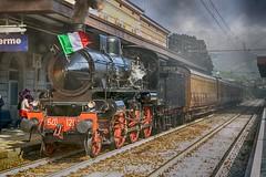 treno a vapore,25-04-2017 (Loretta Bicocchi) Tags: lorettabicocchi treno locomotiva stazione porretta terme appenninobolognese revocazione storica trenoavapore binari