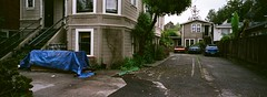 Berkeley (bior) Tags: berkeley california bayarea sanfranciscobayarea house neighborhood victorian driveway xpan xpanii hasselbladxpanii hasselblad panorama